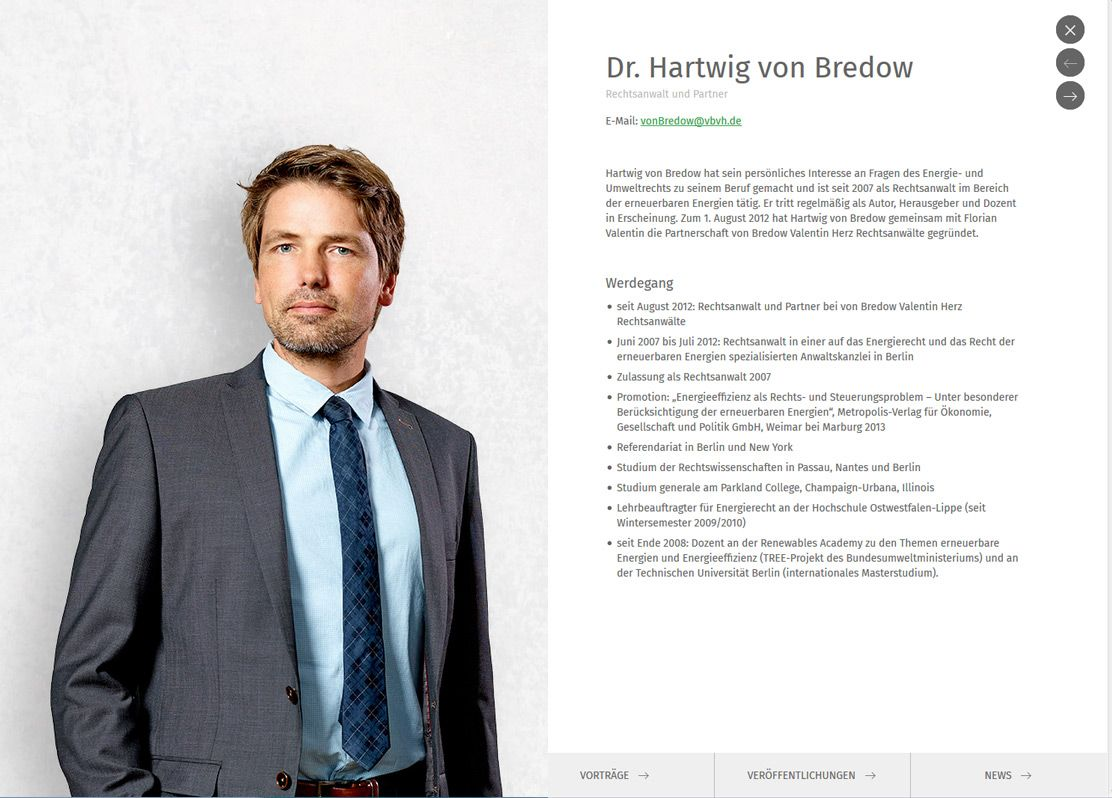 Anwalt Website Profil